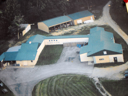 The Fender 4-Star meat processing plant as seen from above